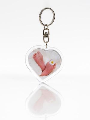 kulcstartó, szív alakú